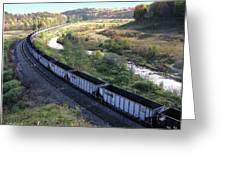 Coal Train - Johnstown  Greeting Card