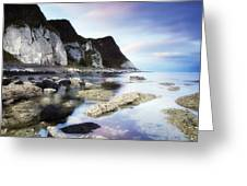 Coast Between Carnlough & Waterfoot, Co Greeting Card