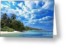 Coast Of Indian Ocean Greeting Card