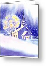 Coastal Church Christmas Greeting Card