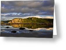 Coastal Cliffs In Evening Light Greeting Card