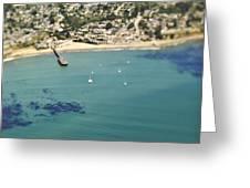 Coastal Community And Sailboats Greeting Card by Eddy Joaquim