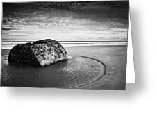 Coastal Scene Bw Greeting Card