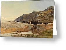 Coastal Scene Greeting Card by Henry Moore