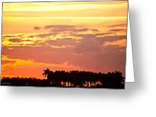 Coastal Sunset Boynton Beach Florida Greeting Card