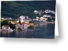 Coastal Town Of Montenegro Greeting Card
