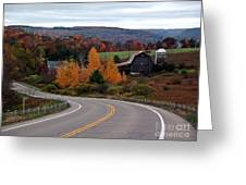Coasting Through Autumn Greeting Card