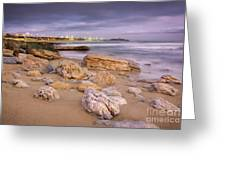 Coastline At Twilight Greeting Card