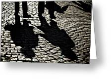 Cobblestone Couples Greeting Card