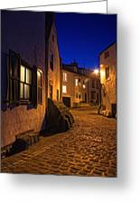 Cobblestone Road, North Yorkshire Greeting Card by John Short