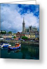 Cobh Cathedral & Harbour, Co Cork Greeting Card