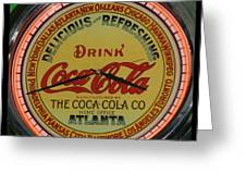Coca Cola Clock Greeting Card
