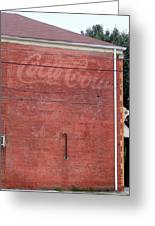 Coca Cola Faded Greeting Card