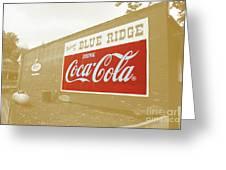 Coca-cola Sepia Greeting Card