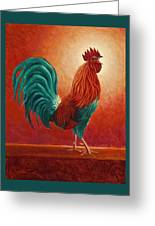 Cock-a-doodle Dude Greeting Card