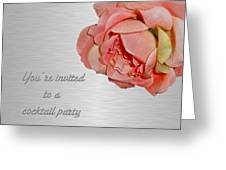 Cocktail Party Invitation - Fabric Rose Greeting Card
