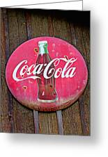 Coco Cola Sign Greeting Card by Garry Gay