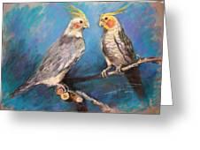 Coctaiel Parrots Greeting Card