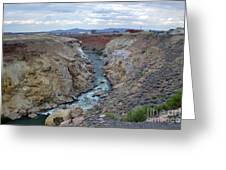 Cody Wyoming River Greeting Card