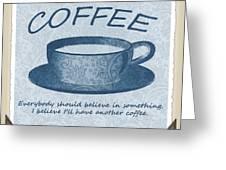 Coffee 1 Scrapbook Greeting Card
