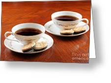 Coffee And Cookies Greeting Card