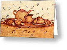 Coffee Break 2 Coffee Painting Greeting Card
