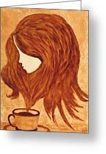 Coffee Break Coffee Painting Greeting Card