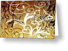 Coffee Flowers 1 Calypso Greeting Card