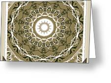 Coffee Flowers 1 Olive Medallion Scrapbook Greeting Card