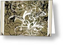 Coffee Flowers 1 Olive Scrapbook Greeting Card