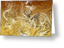 Coffee Flowers 2 Calypso Greeting Card