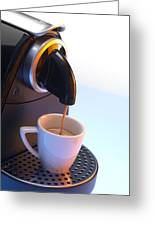 Coffee Machine Greeting Card