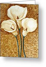 Coffee Painting - Flowers Greeting Card by Rejeena Niaz