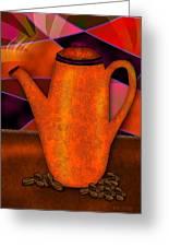 Coffee Pot Greeting Card by Melisa Meyers