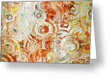 Coffee Rings Abstract Greeting Card