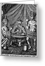 Coffee, Tea & Chocolate, 1685 Greeting Card by Granger