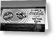 Coke At The Pier Greeting Card