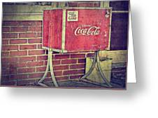 Coke Box Greeting Card