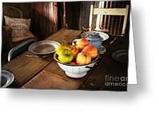 Colander Of Fruit Greeting Card