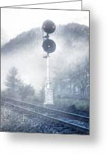 Cold And Foggy Greeting Card