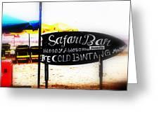Cold Bintang At The Safari Bar In Bali Greeting Card by Funkpix Photo Hunter