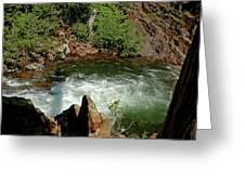 Cold Creek Waters Glen Alpine Creek Greeting Card