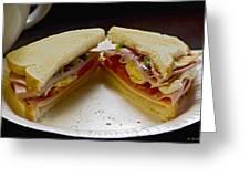 Cold Cut Sandwich Greeting Card