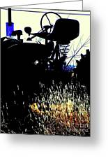 Cold Morning Tractor  Greeting Card