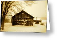 Cold On The Ridge Greeting Card