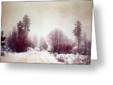 Cold Road Greeting Card