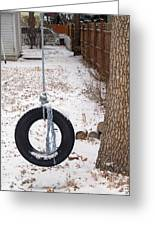 Cold Swing Greeting Card