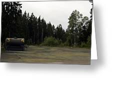 Cold War Hiway Fuel Dump Greeting Card
