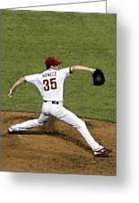 Cole Hamels Greeting Card by Gerry Mann
