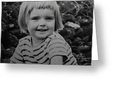 Colette Happy 4 Years Old In France Greeting Card